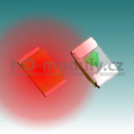 SMD LED dioda 0603 – červená